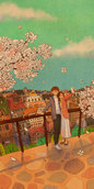 [18:9]  꽃 아래에서 Wallpaper