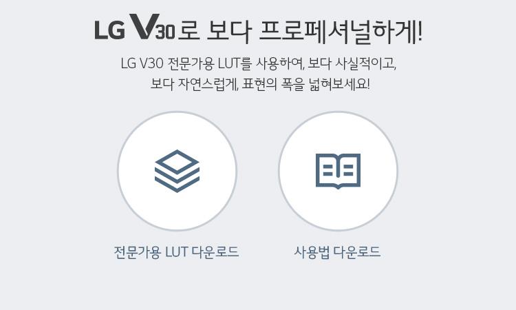 LG V30로 보다 프로페셔널하게!